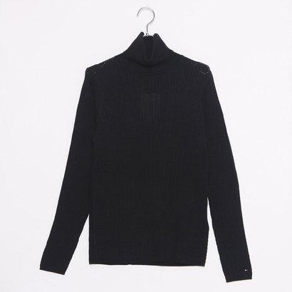 【アウトレット】トミーヒルフィガー TOMMY HILFIGER ミニケーブルロールネックセーター (ブラック)