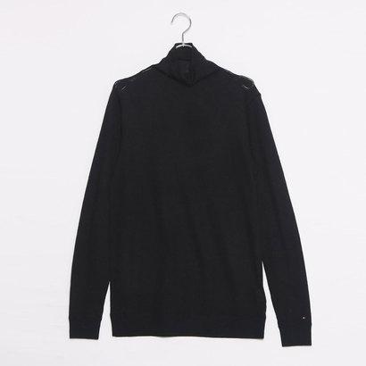 【アウトレット】トミーヒルフィガー TOMMY HILFIGER ウールブレンドハイネックセーター (ブラック)
