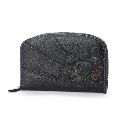 エスノ Ethno ラウンドジップ 2つ折財布 (ブラック)