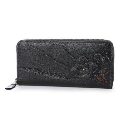 エスノ Ethno ラウンドジップ長財布 (ブラック)