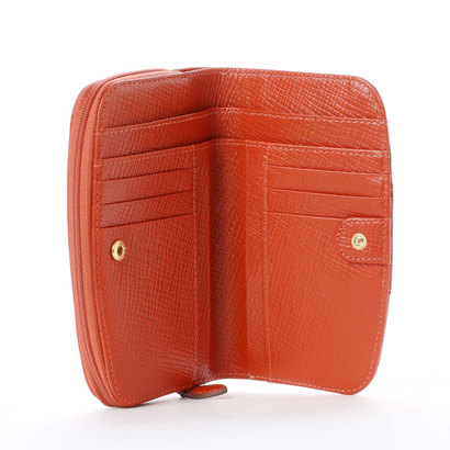 49389a32984b カンサイ ヤマモト ファム KANSAI YAMAMOTO FEMME ラウンドファスナー2つ折財布。フロントの花モチーフがポイントの財布です。 ラウンドファスナー仕様。