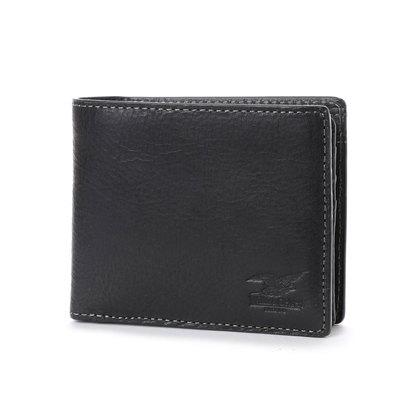 ウィリスアンドガイガー Willis&Geiger 中ベラ付2つ折り財布 (ブラック)