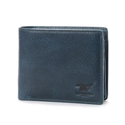ウィリスアンドガイガー Willis&Geiger 中ベラ付2つ折り財布 (ネイビー)