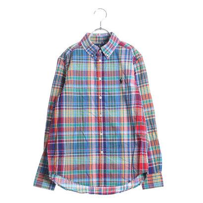 ポロラルフローレン POLO RALPH LAUREN ワンポイント チェックシャツ (レッドマルチ)