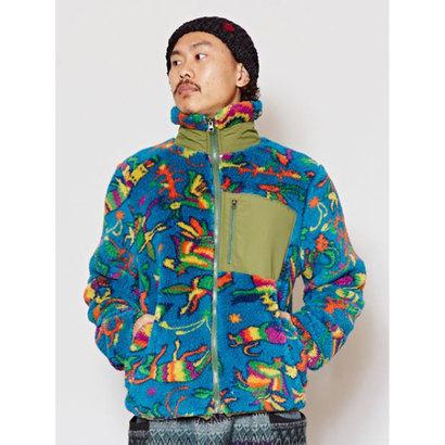 【チャイハネ】メキシカン柄アミーゴショートMEN'Sジャケット ターコイズブルー