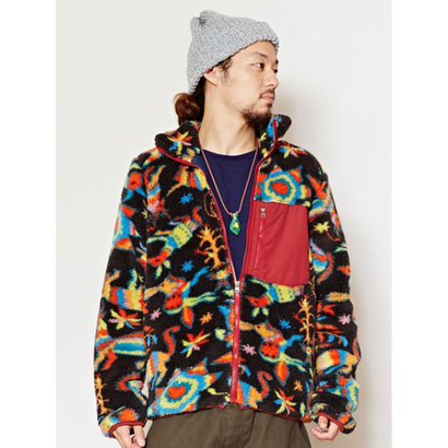 【チャイハネ】メキシカン柄アミーゴショートMEN'Sジャケット ブラック