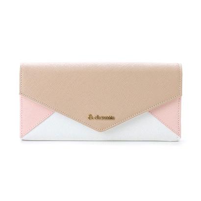 &シュエット レター型かぶせ財布(ピンク)