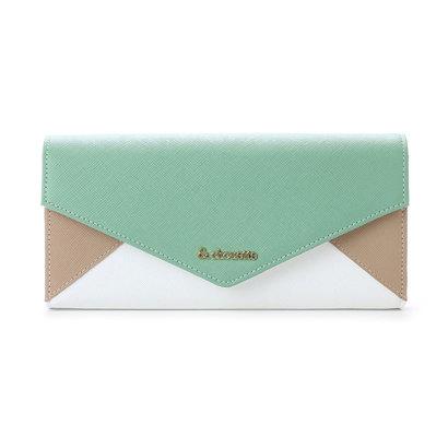 &シュエット レター型かぶせ財布(カーキ)