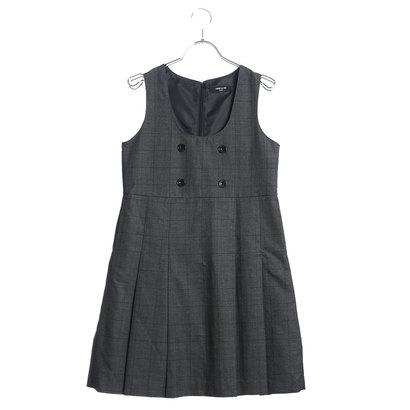 コムサイズム COMME CA ISM グレンチェックジャンパースカート(140-160cm) (チャコール)