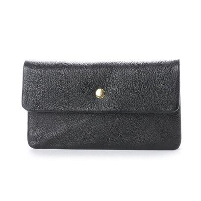 ペルケ perche ソフトバッファロー袋縫いかぶせ長財布 (ブラック)