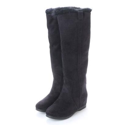 【アウトレット】フレイ hurray 生活防水機能付きロングブーツ (ブラック)