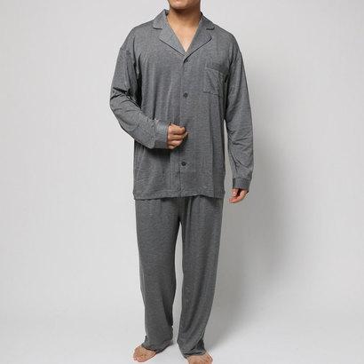 【アウトレット】コンフォートインデックス COMFORT INDEX デュルウォームオープンカラーパジャマ (グレー)