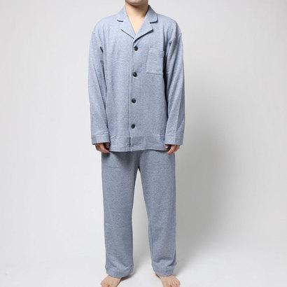 【アウトレット】コンフォートインデックス COMFORT INDEX ミニ裏毛レギュラーカラーパジャマ (ブルー)
