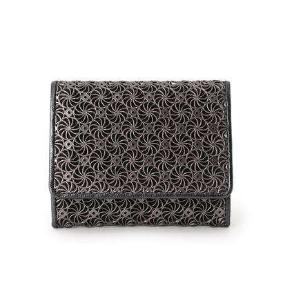ヒロコ ハヤシ HIROKO HAYASHI GIRASOLE(ジラソーレ) 薄型ミニ財布 (ブラック)