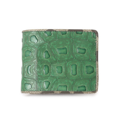 ヒロコ ハヤシ HIROKO HAYASHI COLLABORAZIONE(コラボラツィオーネ) 二つ折財布 (グリーン系)