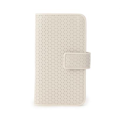 ヒロコ ハヤシ HIROKO HAYASHI CARDINALE(カルディナーレ) 手帳型iPhoneケース (ホワイト)