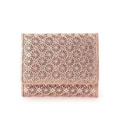 ヒロコ ハヤシ HIROKO HAYASHI GIRASOLE(ジラソーレ) 薄型ミニ財布 (ピンク)