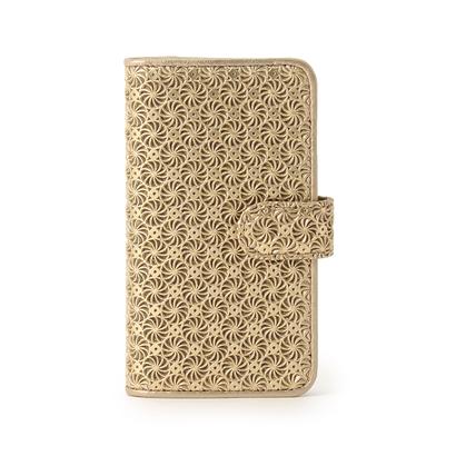 ヒロコ ハヤシ HIROKO HAYASHI GIRASOLE(ジラソーレ) 手帳型iPhoneケース (ゴールド)