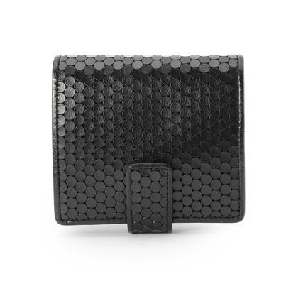 ヒロコ ハヤシ HIROKO HAYASHI CARDINALE(カルディナーレ)薄型二つ折り財布 (ブラック)