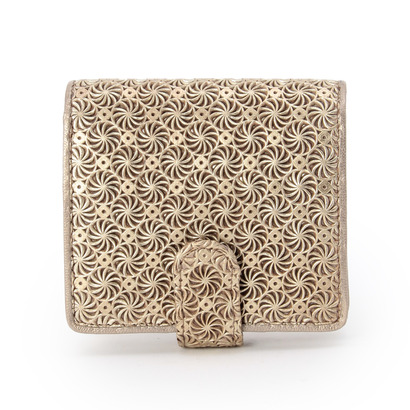 ヒロコ ハヤシ HIROKO HAYASHI GIRASOLE(ジラソーレ)薄型二つ折り財布 (ゴールド)