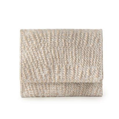ヒロコ ハヤシ HIROKO HAYASHI DAMASCO(ダマスコ) 薄型ミニ財布 (ライトグレー)
