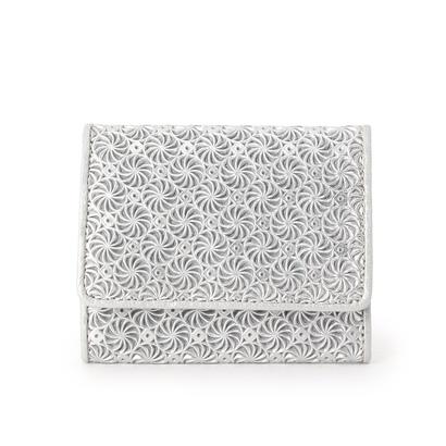 ヒロコ ハヤシ HIROKO HAYASHI GIRASOLE(ジラソーレ) 薄型ミニ財布 (シルバー)