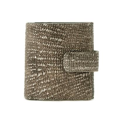 ヒロコ ハヤシ HIROKO HAYASHI DAMASCO(ダマスコ) 薄型二つ折り財布 (シルバー系)