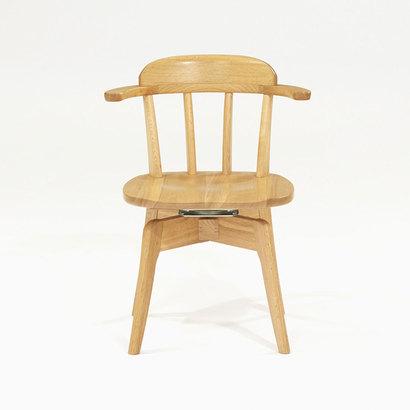 IDC OTSUKA/大塚家具 椅子(アーム) リーフ OISA-919 回転タイプ 板座 WO(ホワイトオーク)色 (ホワイトオーク)【返品不可商品】