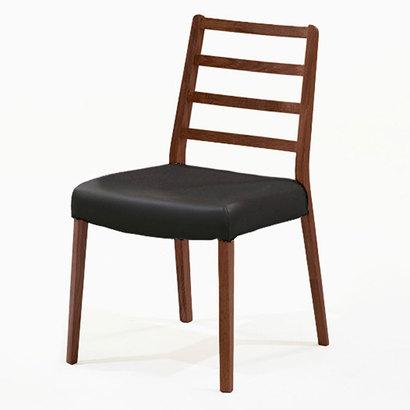 IDC OTSUKA/大塚家具 椅子 シネマ Aタイプ レッドオーク材/DDB色 PVCブラック (ダークブラウン)【返品不可商品】