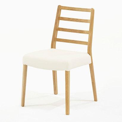 IDC OTSUKA/大塚家具 椅子 シネマ Aタイプ レッドオーク材/WO色 PVCアイボリー (ホワイトオーク)【返品不可商品】