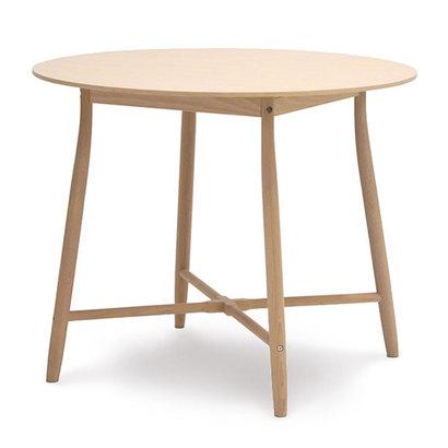 IDC OTSUKA/大塚家具 丸テーブル 209EB 白木塗装 (ホワイトオーク)【返品不可商品】