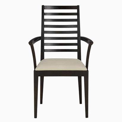 IDC OTSUKA/大塚家具 椅子(アーム) N005 #PVC/DB ナラ ベージュ (ダークブラウン)