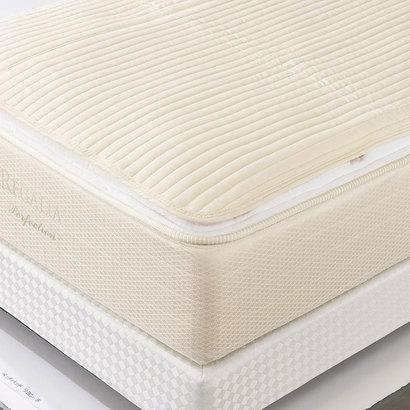 IDC OTSUKA/大塚家具 ベッドパッド リヨン D W1400×D1950 (mm) (ホワイト)【返品不可商品】