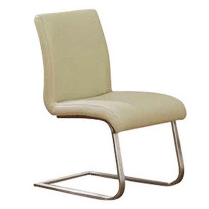 IDC OTSUKA/大塚家具 椅子 1857-31 革アイボリー/スチール (アイボリー)【返品不可商品】