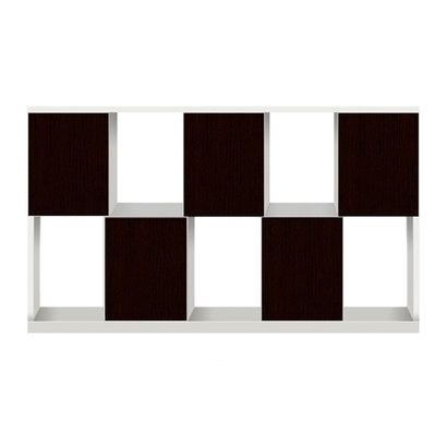 IDC OTSUKA/大塚家具 シェルフ ポンセル2 137 ホワイト色:WH ダークブラウン色:DB (ホワイト/ダークブラウン)【返品不可商品】