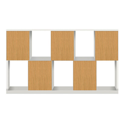 IDC OTSUKA/大塚家具 シェルフ ポンセル2 137 ホワイト色:WH ナチュラル色:NA (ホワイト/ナチュラル)【返品不可商品】
