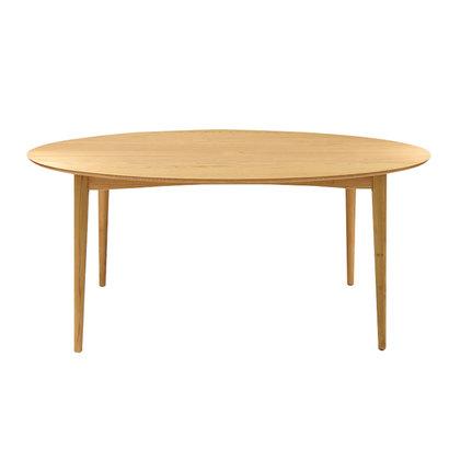 IDC OTSUKA/大塚家具 テーブル楕円シネマ3 160X90 WO (ホワイトオーク)【返品不可商品】