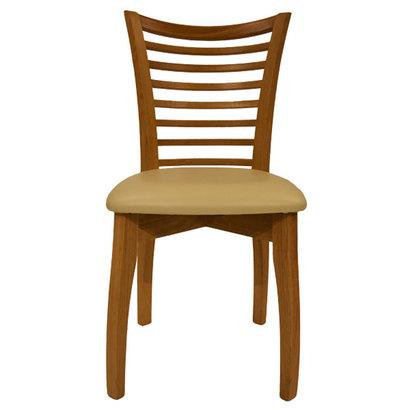IDC OTSUKA/大塚家具 椅子 SI PVC IV/WO オーク (アイボリー)【返品不可商品】