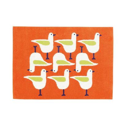 IDC OTSUKA/大塚家具 アクセントラグ シーガル オレンジ (オレンジ)【返品不可商品】