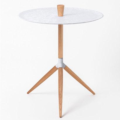 IDC OTSUKA/大塚家具 サイドテーブル HK+01 白錆色 オーク材 (ホワイトオーク)【返品不可商品】