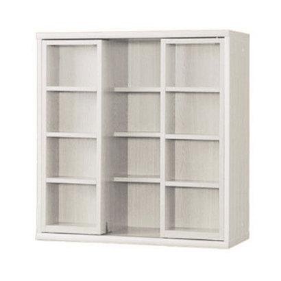 IDC OTSUKA/大塚家具 書棚 OF-90 スライドオープン ウッディホワイト (ウッディホワイト)【返品不可商品】