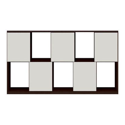 IDC OTSUKA/大塚家具 シェルフ ポンセル2 137 ダークブラウン色:DB ホワイト色:WH (ダークブラウン/ホワイト)【返品不可商品】