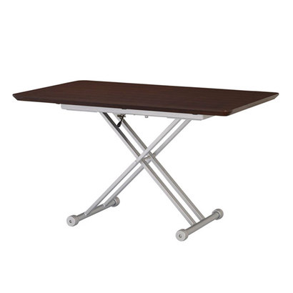 IDC OTSUKA/大塚家具 テーブル(昇降式)OTLF 長方形 1500タイプ ダークブラウン色 (ダークブラウン)【返品不可商品】