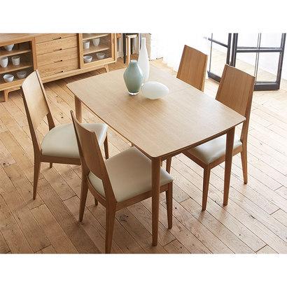 IDC OTSUKA/大塚家具 ダイニングテーブル(伸長式) ウイング WO 1500タイプ (ホワイトオーク)【返品不可商品】