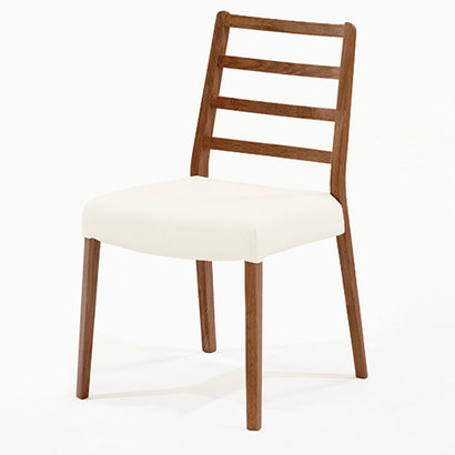 IDC OTSUKA/大塚家具 椅子 シネマ Aタイプ ウォールナット材/WN2色 PVCアイボリー (ウォールナット)【返品不可商品】