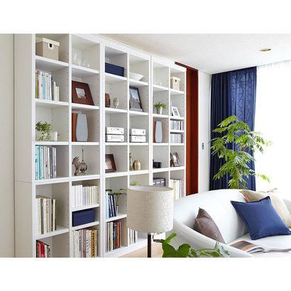 IDC OTSUKA/大塚家具 オープン書棚 トールマン 巾810 ハイタイプ NWH色 (ホワイト)【返品不可商品】