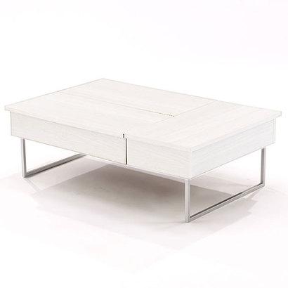 IDC OTSUKA/大塚家具 センターテーブル ネーベル 金脚  ホワイト色 (ホワイト)【返品不可商品】