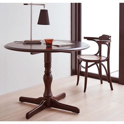 IDC OTSUKA/大塚家具 丸テーブル T-5651 WN (ウォールナット)【返品不可商品】