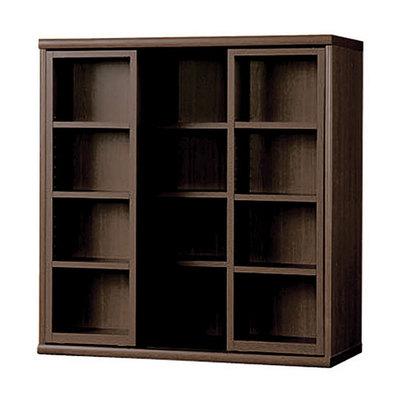 IDC OTSUKA/大塚家具 書棚 OF-90 スライドオープン ウェンジ (ウエンジ)【返品不可商品】