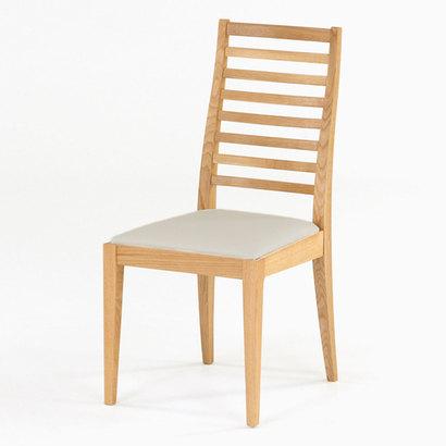 IDC OTSUKA/大塚家具 椅子 N005 #PVC/WOナラ ベージュ (ホワイトオーク)【返品不可商品】